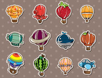 Cartoon hot air balloon stickers Stock Image