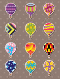 Cartoon hot air balloon stickers Royalty Free Stock Image