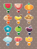 Cartoon hot air balloon stickers Royalty Free Stock Photo