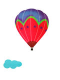 Cartoon hot air balloon Stock Image
