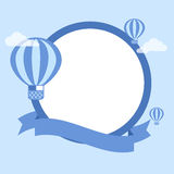 Cartoon Hot Air Balloon - Vector Background Royalty Free Stock Photo