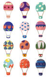 Cartoon hot air balloons Stock Images