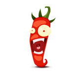 Cartoon Hot chili pepper vector illustration Stock Images