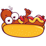 Cartoon hot dog Royalty Free Stock Image