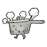 Cartoon hot saucepan Royalty Free Stock Photos