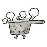 Cartoon hot saucepan Royalty Free Stock Photos