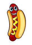 Cartoon hotdog Royalty Free Stock Photography