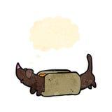 cartoon hotdog Stock Image