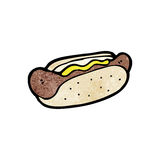 Cartoon hotdog Royalty Free Stock Photo