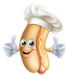 Cartoon Hotdog Chef Stock Photography