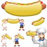 Cartoon Hotdog Clip Art Royalty Free Stock Photos