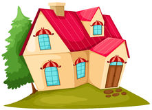 Cartoon house stock illustration