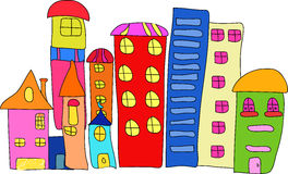 Cartoon house 2. Vector drawing of home.cute and colorful Royalty Free Stock Image