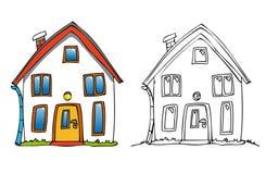 Cartoon house Royalty Free Stock Photography