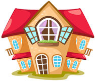 Cartoon house vector illustration