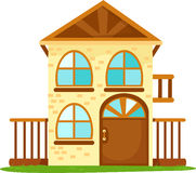 Cartoon house. Illustration of isolated cartoon house on white background Royalty Free Stock Image