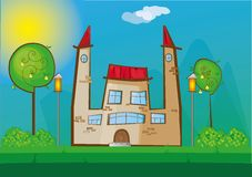 Cartoon house Stock Photography