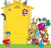 Cartoon house for animals Stock Photography
