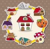 Cartoon house card Royalty Free Stock Photo