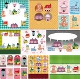 Cartoon house card Stock Image