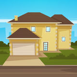 Cartoon House Stock Photo
