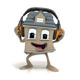Cartoon House Headphones Royalty Free Stock Photo
