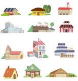 Cartoon house icon. Vector drawing Royalty Free Stock Photo