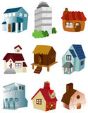 Cartoon house icon. Drawing Stock Photos