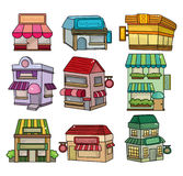 Cartoon house icon Stock Photography