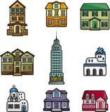 Cartoon house icon Royalty Free Stock Image