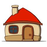 Cartoon house isolated on white background. Vector Royalty Free Stock Images