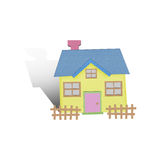 Cartoon house from recycle paper Royalty Free Stock Photos