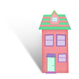 Cartoon house from recycle paper Royalty Free Stock Photo