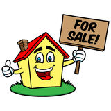 Cartoon House For Sale Royalty Free Stock Photography