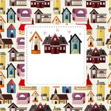 Cartoon house/shop card Royalty Free Stock Photo