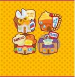 Cartoon house/shop card Stock Photos