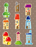 Cartoon house stickers Royalty Free Stock Photos