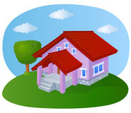 Cartoon house Stock Images