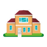 Cartoon house traditional detailed modernn Stock Photo
