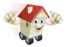 Cartoon House on Wheels Royalty Free Stock Photo