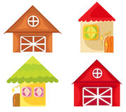 Cartoon houses. Royalty Free Stock Photography