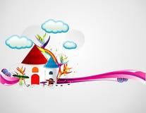 Cartoon houses illustration royalty free illustration