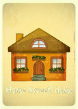 Cartoon Houses Postcard Stock Images