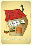 Cartoon Houses Postcard Stock Photography