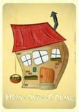 Cartoon Houses Postcard Stock Photography
