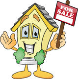 Cartoon Houses For Sale Signs Stock Image