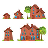 Cartoon Houses Stock Image