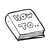 cartoon how to book Stock Photography