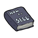 cartoon how to sell book Royalty Free Stock Images