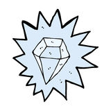 Cartoon huge diamond Royalty Free Stock Photos